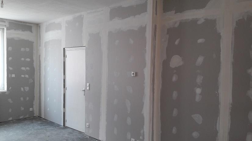 rénovation en placoplatre des murs anciens en torchis d'une maison de marcq en baroeul de 1930 - nord-humidite.com