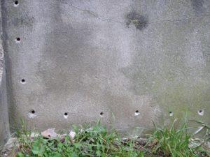forage de trous pour injection de résine contre les murs humides à tourcoing