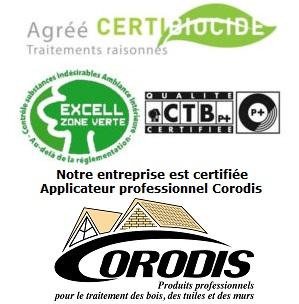 certibiocide des techniciens aqua-control pour le traitement de l'humidité. Produit contre l'humidité et les infiltrations certifiés
