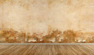 Dégradation des enduits et du torchis d'un mur humide par capillarité et infiltration d'humidité