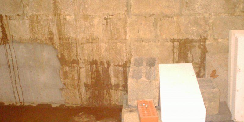 infiltrations d'eau dans une cave a macq-enb-baroeul dans le nord près de lille. Quelles solutions ? cuvelage ?