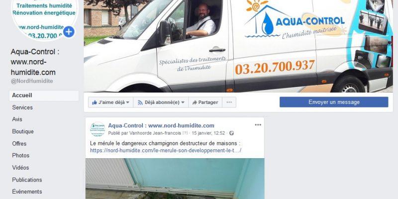 Traitement de l'humidité à lille sur facebook : remontées capillaires, merule, cave humide et cuvelage, hydrofuge et porosité du mur